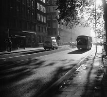 199711220002 Early Morning Bus PS5 BW by Fred Mitchell