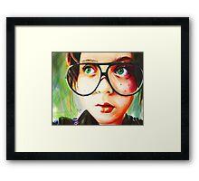 Alice's Glasses Framed Print