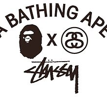 A Bathing Ape x Stussy  by ryanerby