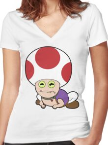 All Glory to Hypno Toad Women's Fitted V-Neck T-Shirt