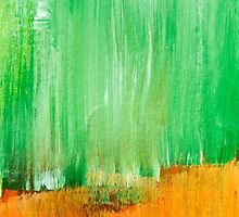 Modern Green Abstract Painting by Christina Rollo