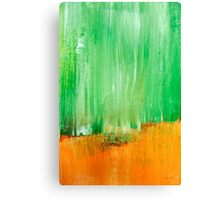 Modern Green Abstract Painting Canvas Print