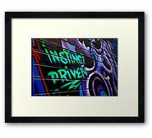 Instinct Driven Framed Print