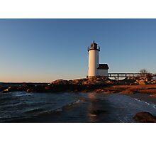Annisquam Light at Sunset - Gloucester, Massachusetts Photographic Print