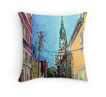 The Glow of St Johns Cathedral, Savannah Throw Pillow