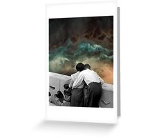 Watching the storms roll in Greeting Card