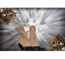 Victorian Lace Up Boots Photographic Print