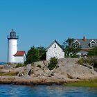 Annisquam Light Trio - Gloucester, Massachusetts by Steve Borichevsky