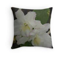Orchids 3 Throw Pillow