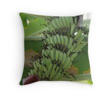 Bananas On the tree Throw Pillow