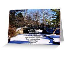 Bridge Crossing  Greeting Card
