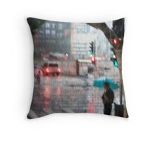 Rainy Day in Shanghai Throw Pillow