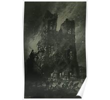 Gustave Fraipont Cathedral of Reims Burning Poster