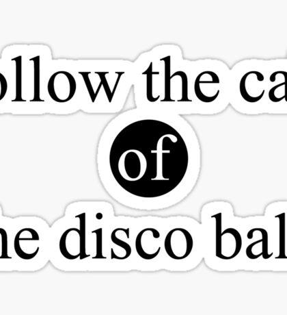 the disco ball Sticker