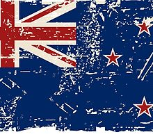 New Zealand Flag - Vintage Look by Port-Stevens
