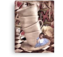 Alice At The Tea Party Canvas Print