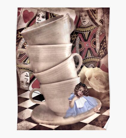 Alice At The Tea Party Poster