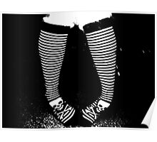 Stripy Socks Poster