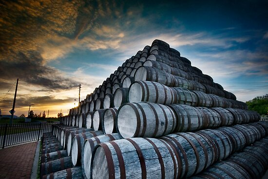 Seagram Barrels by Rob Smith