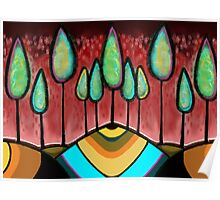 Red Tree Landscape - Beatrice Ajayi Poster
