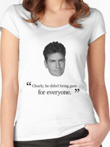 Charlie Sheen Gum Quote Women's Fitted Scoop T-Shirt