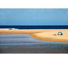 Blue tent Photographic Print