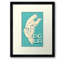 Pola with textured background Framed Print