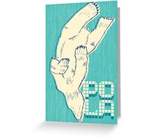 Pola with textured background Greeting Card