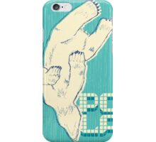 Pola with textured background iPhone Case/Skin