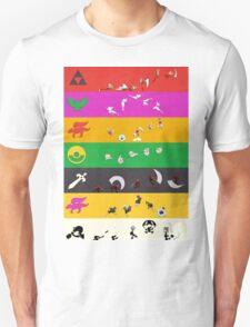 Smash Bros Melee Character Poster T-Shirt