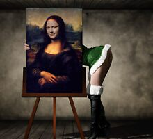 Mona Lisa Blinking by paperslayer