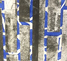 Blue and black print  by HannahProcter