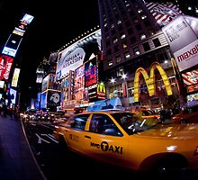 Moment in Times Square by Sean McDonald