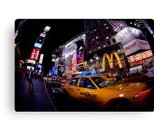 Moment in Times Square Canvas Print