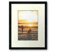 Germany sunset Framed Print