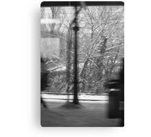 Trainstation on the move Canvas Print