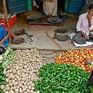 Nawalgarh Bazaar by Christopher Cullen