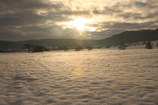 Sunrise snow mountain by eddiebotha