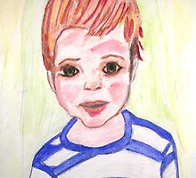 I'm a real boy- watercolor portrait by kreativekate