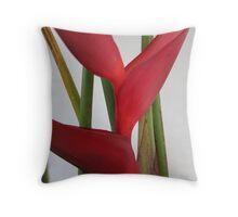 Heliconia plant Throw Pillow