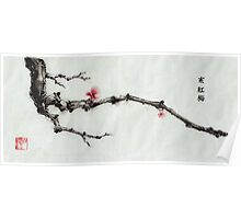 Winter plum flowers Poster