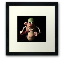 mr potato head,,,,, Framed Print