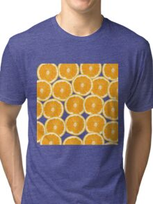 Summer Citrus Orange Slices Tri-blend T-Shirt