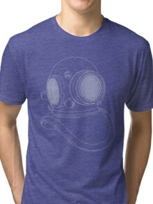 Diving Helmet Tri-blend T-Shirt
