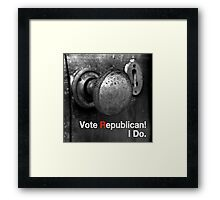 Vote Republican! 9 Framed Print