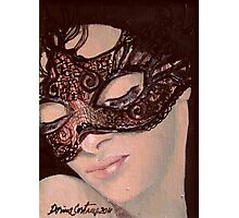 Black lace Photographic Print