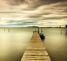 lake pier by vtango