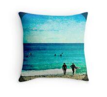 Scarborough Surfers Throw Pillow