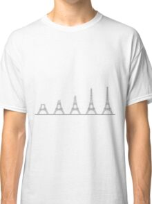 Eiffel Tower Construction Sequence Illustration Classic T-Shirt