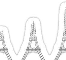 Eiffel Tower Construction Sequence Illustration Sticker